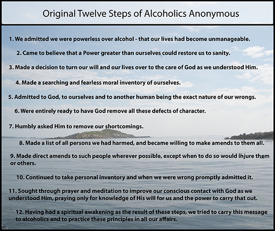 Original 12-Steps of Alcoholics Anonymous