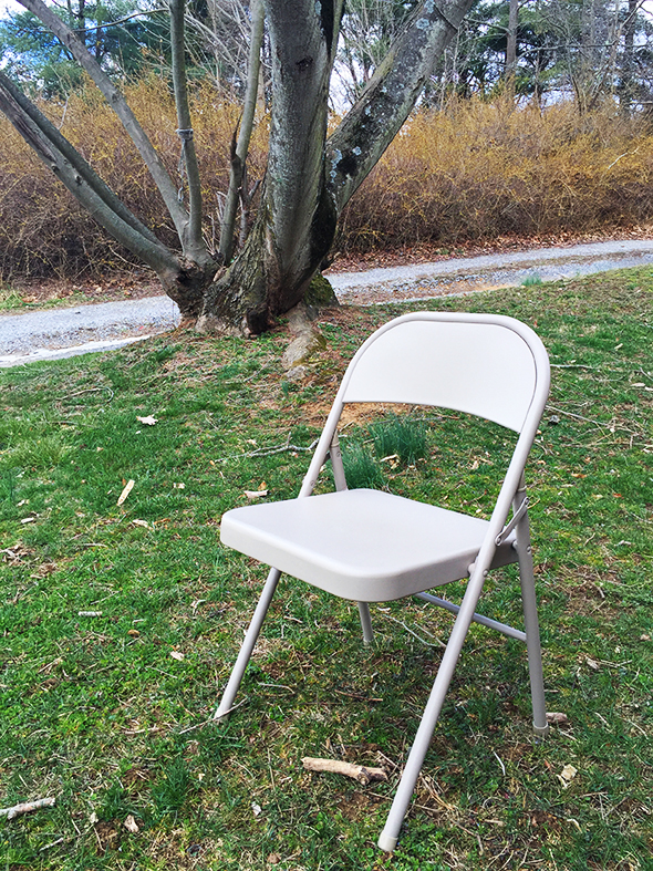 12-step folding chair